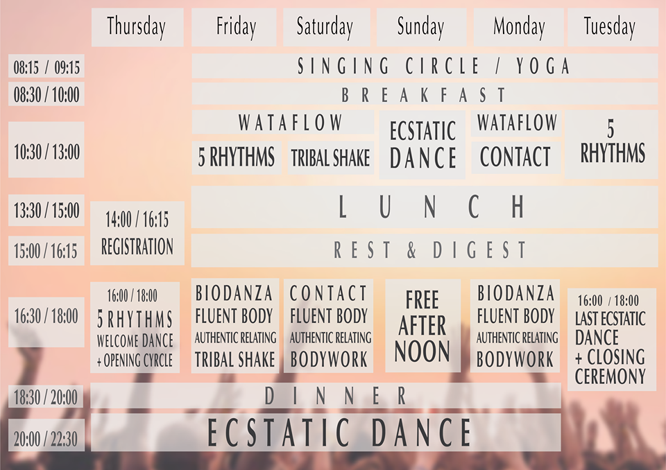 Ecstatic Dance Festival Goa Program 2019